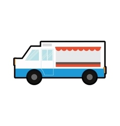 Truck food transportation delivery icon vector