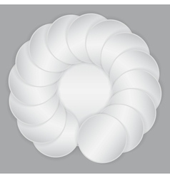 White circle paper sheets vector image