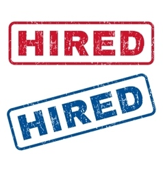 Hired rubber stamps vector