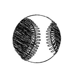 Silhouette drawing baseball ball element sport vector