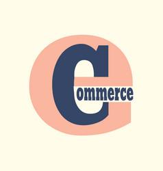 e commerce logo vector image