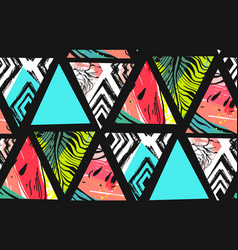 Hand drawn abstract summer time collage vector