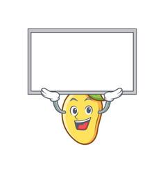 up board mango character cartoon mascot vector image