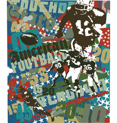 American football touchdown vector