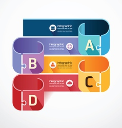 infographic Template jigsaw banner concept vector image