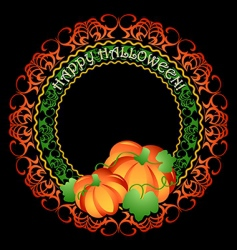 Pumpkins medallion vector