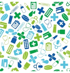 Pharmacy seamless pattern vector