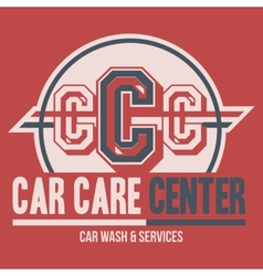 Car care center label t-shirt vector