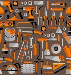 Color seamless pattern of building tools vector