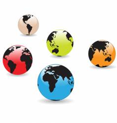 Colorful globes vector