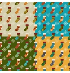 Set of christmas and new year seamless patterns vector