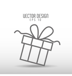 Gift drawn design vector