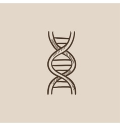 Dna sketch icon vector