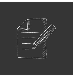 Taking note drawn in chalk icon vector
