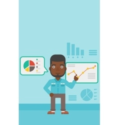 Man making business presentation vector