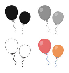 Balloon cartoon icon for web and vector