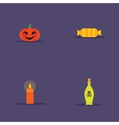 Cartoon halloween objects vector image