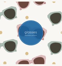 cat eye retro glasses seamless pattern vector image vector image
