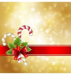 Christmas greeting vector image vector image