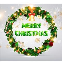 Christmas wreath design vector