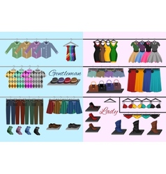 Clothes shop concept vector image