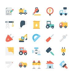 Construction colored icons 5 vector