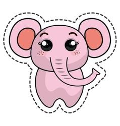 cute elephant kawaii character vector image vector image