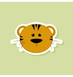 cute tiger face vector image