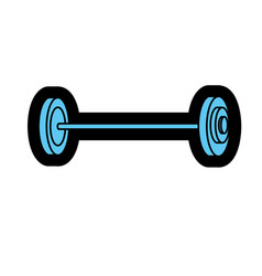 Dumbbell fitness tool to do exercise and training vector