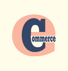 E commerce logo vector