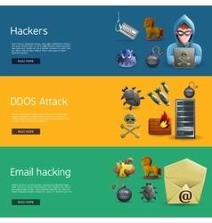 Hacker activity banners vector