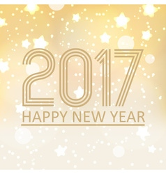 happy new year 2017 on shiny abstract background vector image