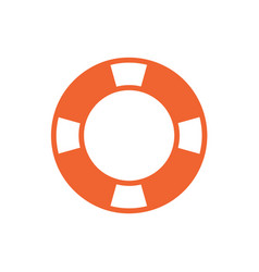 life buoy icon isolated vector image vector image