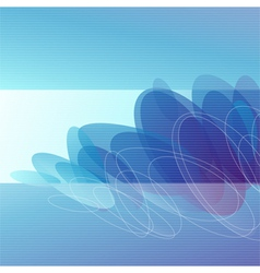 Molecules - Abstract blue background vector image vector image