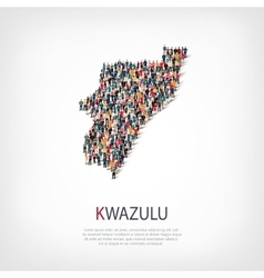 People map country kwazulu vector