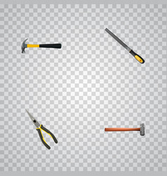realistic handle hit sharpener nippers vector image vector image