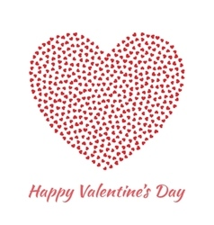 Red heart valentines day card background vector