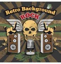 Retro rock background vector