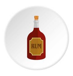 rum icon circle vector image