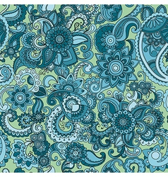 Seamless cucumber pattern in blue color vector image vector image