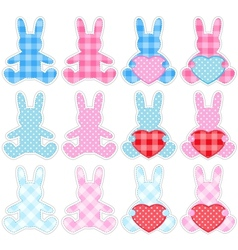 set of rabbits vector image
