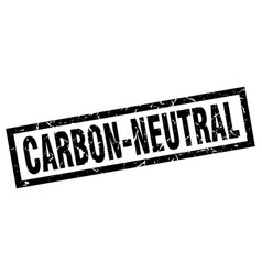 Square grunge black carbon-neutral stamp vector