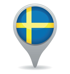 swedish flag pointer vector image vector image