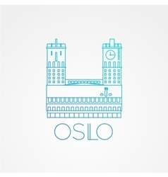Town hall the symbol of oslo norway vector