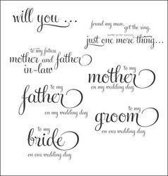 Weddingday notecards vector