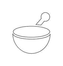 Mortar and pestle pharmacy icon outline style vector