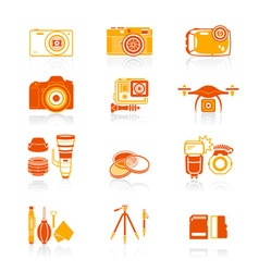 Photography set - juicy series vector