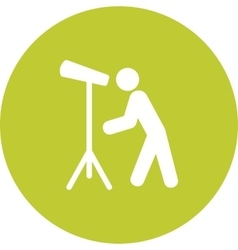 Man Looking Through Telescope vector image