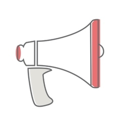 Loud speaker isolated on white video marketing vector