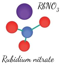 RbNO3 Rubidium nitrate molecule vector image
